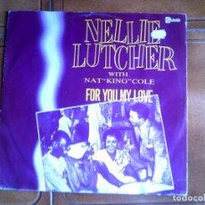 Discos de vinilo: DISCO NELLIE LUTCHER ,WITH NAT KING COLE. Lote 147871894