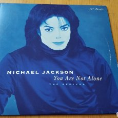 Discos de vinilo: MICHAEL JACKSON MAXI SINGLE USA YOU ARE NOT ALONE. Lote 147876533