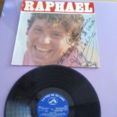 Discos de vinilo: GENIAL LP 1968.RAPHAEL.LP DE LA PELICULA EL GOLFO.LA VOZ DE SU AMO.LVG-U.104.FIRMADO POR EL ARTISTA.. Lote 147882302