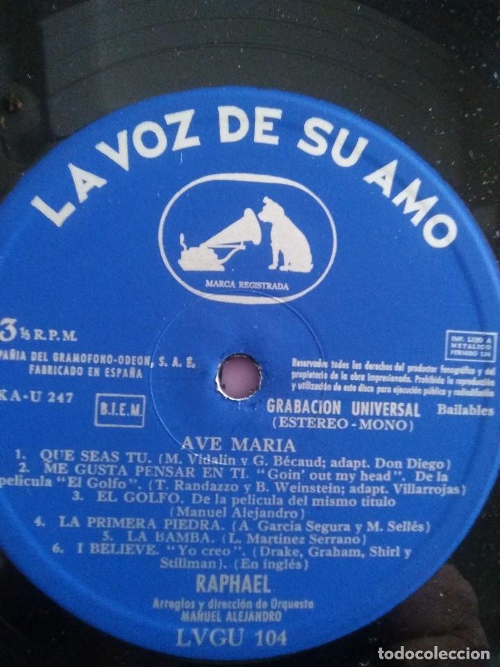 Discos de vinilo: GENIAL LP 1968.RAPHAEL.LP DE LA PELICULA EL GOLFO.LA VOZ DE SU AMO.LVG-U.104.FIRMADO POR EL ARTISTA. - Foto 6 - 147882302