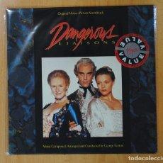 Discos de vinilo: GEORGE FENTON - DANGEROUS LIAISONS - BSO - LP. Lote 147884160