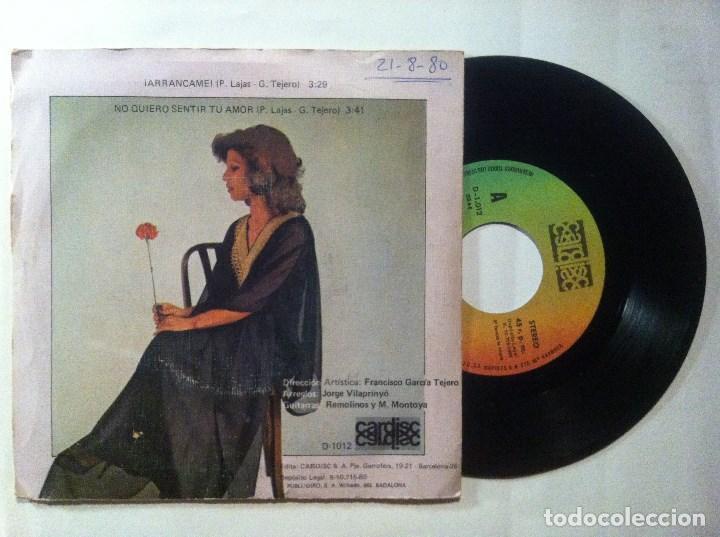 Discos de vinilo: MARUJA CORTES arrancame / no quiero sentir tu amor - SINGLE 1980 - CARDISC - Foto 2 - 153160596