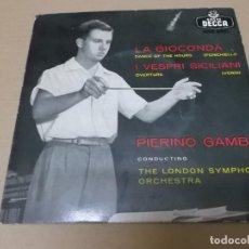 Discos de vinilo: THE LONDON SYMPHONY ORCHESTRA (EP) LA GIOCONDA AÑO 1957 - PROMOCIONAL. Lote 147898982