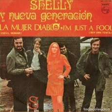 Discos de vinilo: SHELLY Y LA NUEVA GENERACIÓN. LA MUJER DIABLO. SINGLE PHILLIPS 1968. MUY RARO. Lote 147901890