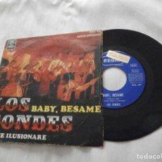 Discos de vinilo: LOS CONDES 7´SG .- BABY, BESAME / NO ME ILUSIONARE (1968) BUENA CONDICION ** PROMOCIONAL **. Lote 147905346