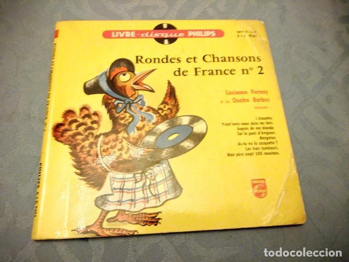 RONDES ET CHANSONS DE FRANCE Nº 2 - VERNAY (PHILIPS LIVRE-DISQUE, 1955). LIBRETO 12 PÁG. (Música - Discos - Singles Vinilo - Música Infantil)