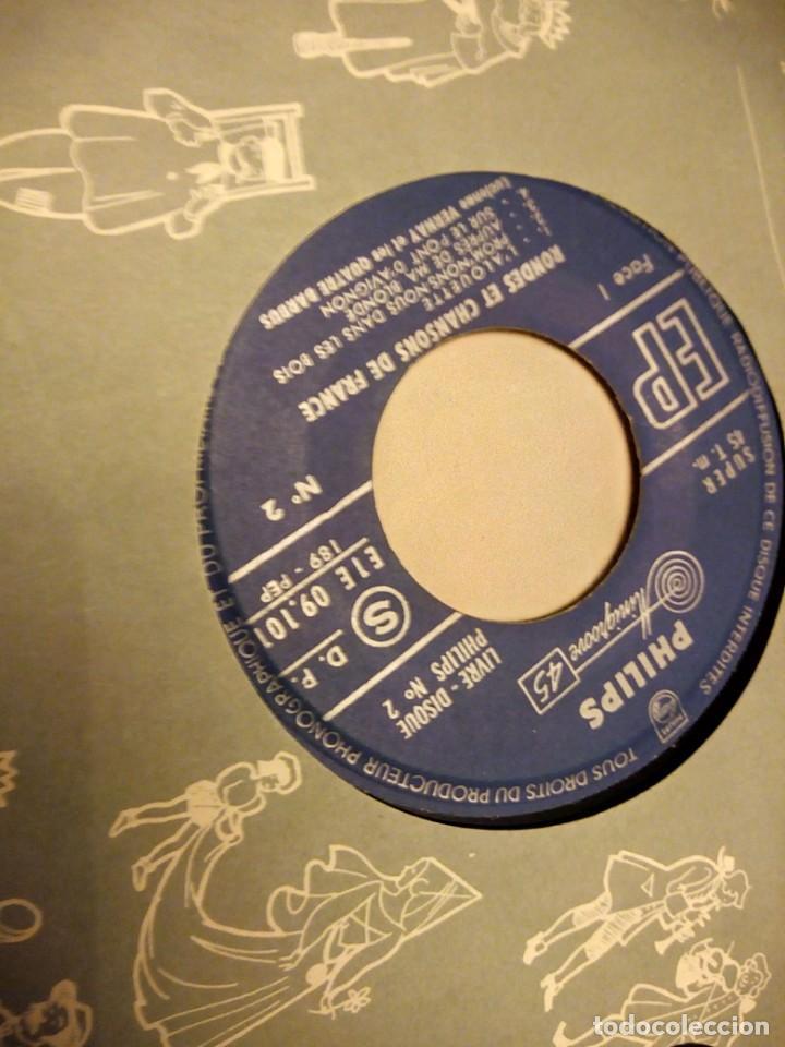 Discos de vinilo: RONDES ET CHANSONS DE FRANCE Nº 2 - VERNAY (PHILIPS LIVRE-DISQUE, 1955). LIBRETO 12 PÁG. - Foto 3 - 147912506