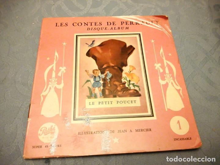 JEAN A MERCIER DISQUE ALBUM LES CONTES DE PERRAULT LE PETIT POUCET 1956 (Música - Discos - Singles Vinilo - Música Infantil)