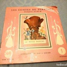 Discos de vinilo: JEAN A MERCIER DISQUE ALBUM LES CONTES DE PERRAULT LE PETIT POUCET 1956. Lote 147913006