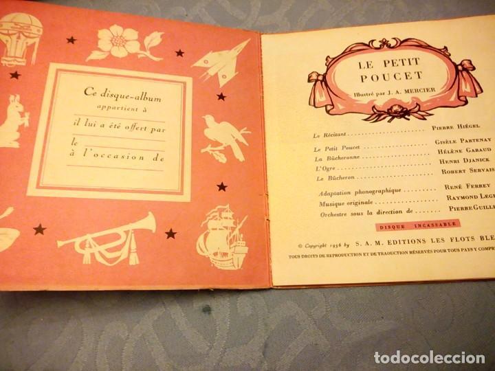 Discos de vinilo: JEAN A MERCIER DISQUE ALBUM LES CONTES DE PERRAULT LE PETIT POUCET 1956 - Foto 2 - 147913006