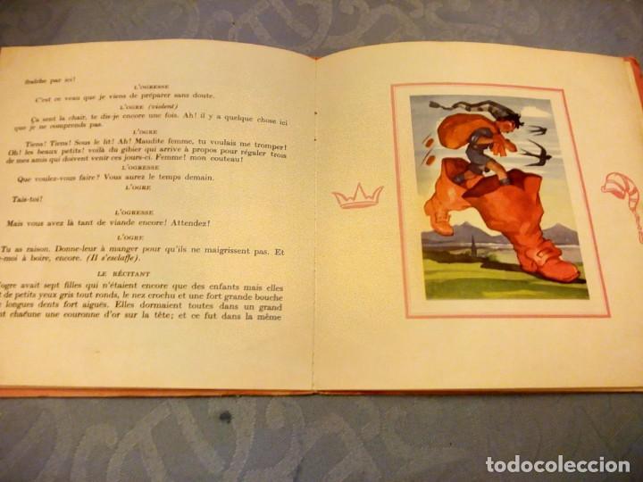 Discos de vinilo: JEAN A MERCIER DISQUE ALBUM LES CONTES DE PERRAULT LE PETIT POUCET 1956 - Foto 3 - 147913006