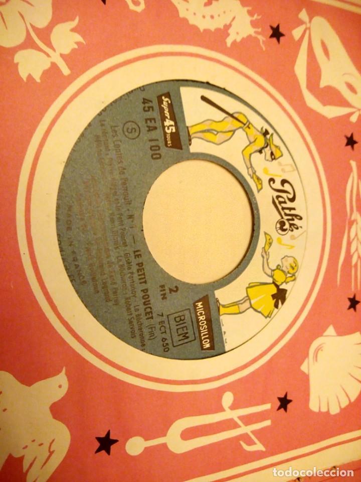 Discos de vinilo: JEAN A MERCIER DISQUE ALBUM LES CONTES DE PERRAULT LE PETIT POUCET 1956 - Foto 4 - 147913006