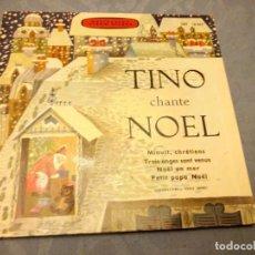 Discos de vinilo: TINO ROSSI - TINO CHANTE NOËL - 45 RPM SINGLE FRANCÉS 1952 S287. Lote 147913298