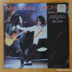 Discos de vinilo: MICHAEL JACKSON & SLASH - GIVE IN TO ME - LP. Lote 147915158
