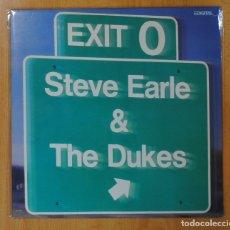 Discos de vinilo: STEVE EARLE & THE DUKES - EXIT 0 - LP. Lote 147915341