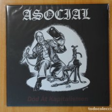 Discos de vinilo: ASOCIAL - DOD AT KAPITALISMEN - LP. Lote 147915772