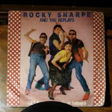 Discos de vinilo: ROCKY SHARPE AND THE REPLAYS, GET A JOB Y SHE DONT WANT ME NOW. Lote 147919986