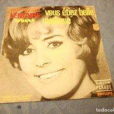 Discos de vinilo: GEORGETTE LEMAIRE - VOUS ETIEZ BELLE MADAME/SACRE P'TIT GARS. 1968. Lote 147921142