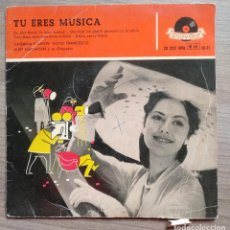 Discos de vinilo: MUSICA, DISCO VINILO SINGLE, TU ERES MUSICA, CATERINA VALENTE, SILVIO FRANCESCO, POLIDOR. Lote 147923430