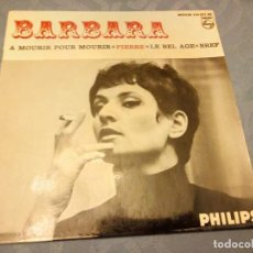 Discos de vinilo: BARBARA - A MOURIR POUR MOURIR . Lote 147923546