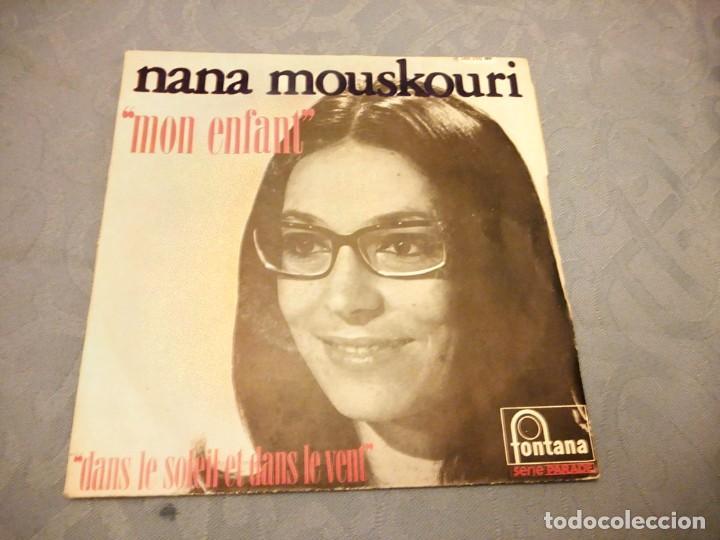 NANA MOUSKOURI ,MON ENFANT- DANS LE SLOLEIL ET DANS LE VENT (Música - Discos - Singles Vinilo - Canción Francesa e Italiana)