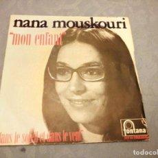 Discos de vinilo: NANA MOUSKOURI ,MON ENFANT- DANS LE SLOLEIL ET DANS LE VENT. Lote 147925802