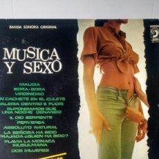 Discos de vinilo: L P VINILO MUSICA Y SEXO (MOMENTO MUSICAL DEL CINE ITALIANO) AÑOS 70. Lote 147932970
