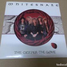 Discos de vinilo: WHITESNAKE (SN) THE DEEPER THE LOVE AÑO 1990. Lote 147937458