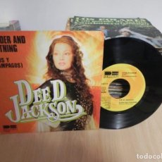 Discos de vinilo: DEE D. JACKSON - THUNDER AND LIGHTNING / RAYOS Y RELAMPAGOS - BELTER . Lote 147937506