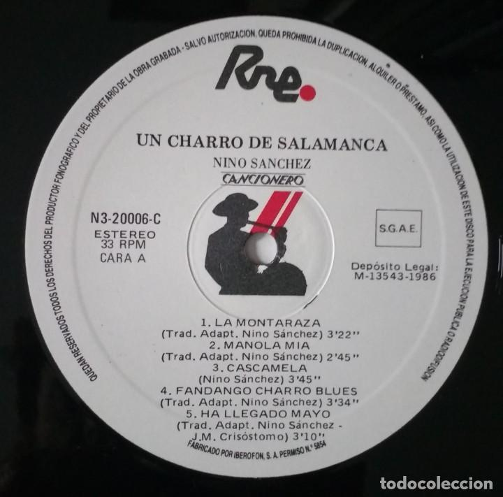 Discos de vinilo: NINO SANCHEZ - UN CHARRO DE SALAMANCA - Foto 4 - 147940542