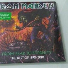 Discos de vinilo: IRON MAIDEN - FROM FEAR TO ETERNITY 3 LP´S VINILOS PICTURE - DE COLOR - NUEVO PRECINTADO .. Lote 147943322