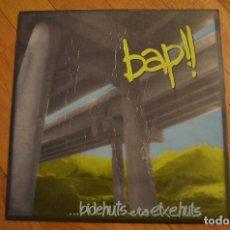 Discos de vinilo: BAP - BIDEHUTS ETA ETXEHUTS LP VINYL ALBUM 1988 BASATI DISKAK. Lote 147943778