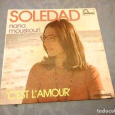 Discos de vinilo: NANA MOUSKOURI ?– SOLEDAD, 1974. Lote 147924574