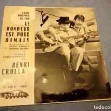 Discos de vinilo: HENRI CROLLA, GEORGES DELERUE ?– LE BONHEUR EST POUR DEMAIN. 1962. Lote 147965642