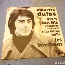 Discos de vinilo: MAURICE DULAC ?– DIS A TON FILS.1970. Lote 147966206