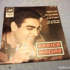 Discos de vinilo: ENRICO MACIAS ?MON COEUR D'ATTACHE J'EN AI PLEIN MON COEUR DES SOUVENIRS , J'APPELLE LE SOLEIL 1965. Lote 147966786