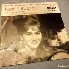 Discos de vinilo: FRANCA DI RIENZO ACCOMPAGNÉE PAR HUBERT DEGEX ET SON ORCHESTRE ?– NOUS LES AMOUREUX,1961 . Lote 147981798