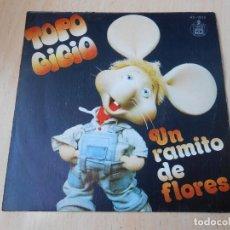 Discos de vinilo: TOPO GIGIO, SG, UN RAMITO DE FLORES + 1, AÑO 1979. Lote 147984326