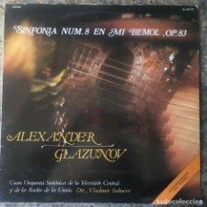 Discos de vinilo: ALEXANDER GLAZUNOV - SINFONIA Nº8 EN MI MAYOR OP 83. Lote 147987662