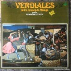 Discos de vinilo: VERDIALES DE LOS MONTES DE MALAGA POR LA BANDA DE POVEA . LP . 1979 DIAL DISCOS. Lote 147990162