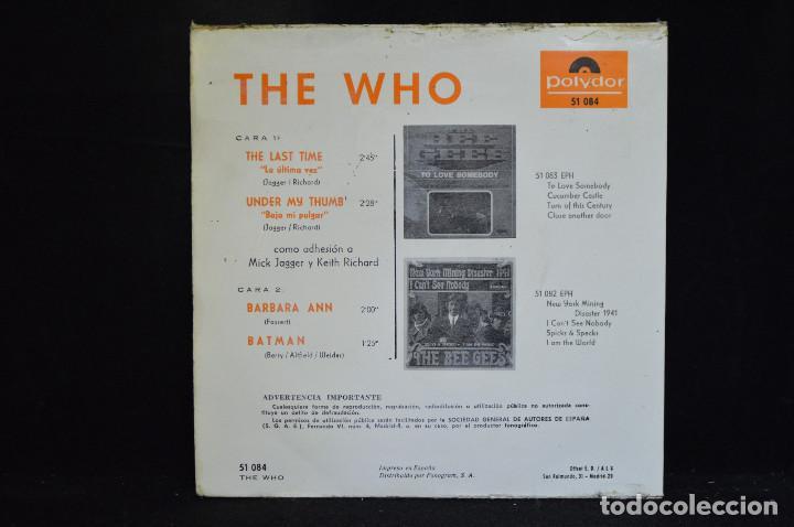 Discos de vinilo: THE WHO - THE LAST TIME +3 - EP - Foto 2 - 147995422