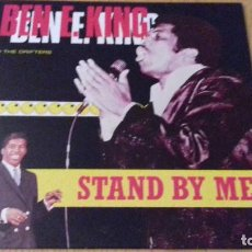 Discos de vinilo: BEN E. KING THE DRIFTERS - STAND BY ME -ALL ROUND TRADING (DINAMARCA) 1987- IMPECABLE ESTADO. Lote 147996106