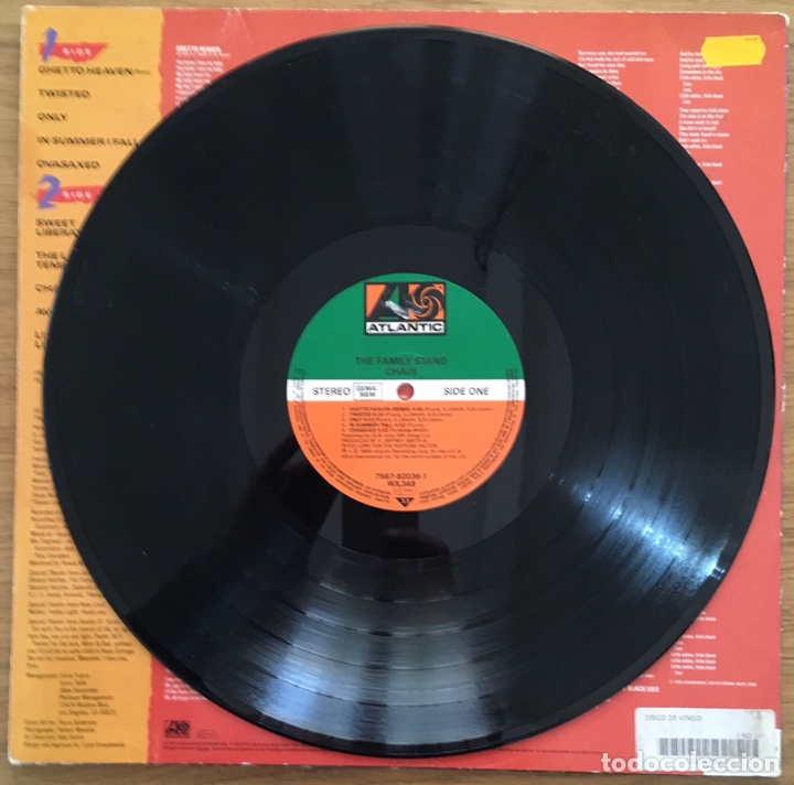 Discos de vinilo: THE FAMILY STAND CHAIN LP ATLANTIC DISCO EXCELENTE - Foto 3 - 147998014