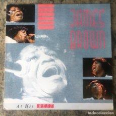Discos de vinilo: JAMES BROWN - AT HIS BEST . LP . 1987 GERMANY. Lote 148015770