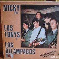 Discos de vinilo: MICKY CON LOS TONYS Y LOS RELAMPAGOS - GRABACIONES INEDITAS - PLEASE PLEASE ME - LA BAMBA -. Lote 148016738