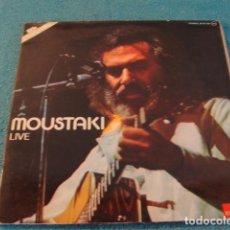 Discos de vinilo: LOTE LP DOBLE GEORGES MOUSTAKI LIVE SELLO POLYDOR 1976..SALIDA 1 EURO. Lote 148017178