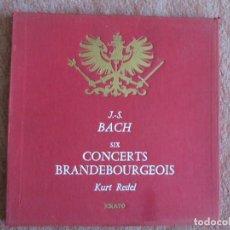 Discos de vinilo: J.S. BACH - SIX CONCERTS BRANDEBOURGEOIS - KURT REDEL ERATO CAJA 2 LP.. Lote 148021866