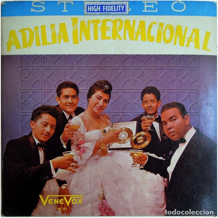 ADILIA INTERNACIONAL ACOMP. POR LOS ARAUCANOS, AL ARPA: ERNESTO TORREALBA - LP VENEZUELA - VENE VOX (Música - Discos - LP Vinilo - Grupos y Solistas de latinoamérica)