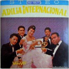 Discos de vinilo: ADILIA INTERNACIONAL ACOMP. POR LOS ARAUCANOS, AL ARPA: ERNESTO TORREALBA - LP VENEZUELA - VENE VOX. Lote 148034286