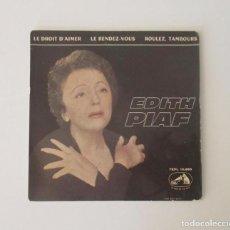 Discos de vinilo: EDITH PIAF - LA VOZ DE SU AMO. Lote 148036794